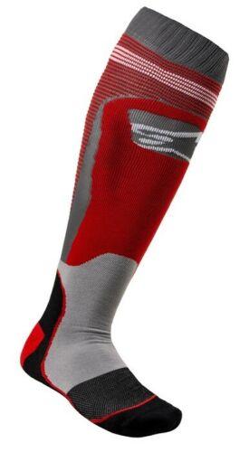 2020 ALPINESTARS MX PLUS 1 BOOT SOCKS RED GREY MOTOCROSS MX ENDURO CHEAP NEW