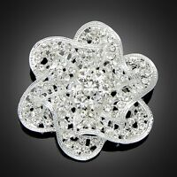 Wedding Bride Rose Flower Rhinestone Bridal Jewelry Party Pageant Pins Brooches
