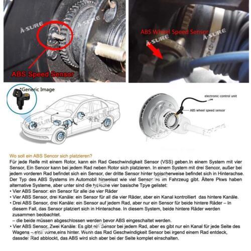 ABS Sensor Hinten Links Oder Rechts Peugeot 407 6D 6C SW 6E 1.6-3.0 BJ 04-06