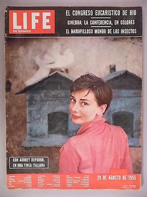 Life Magazine - August 29, 1955 - Spanish Edition ~~ Audrey Hepburn