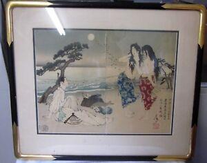 TSUKIOKA-YOSHITOSHI-JAPANESE-WOODBLOCK-ARIWARA-YUKIHARA-MURASAME-MATSUKAZE-AWABI