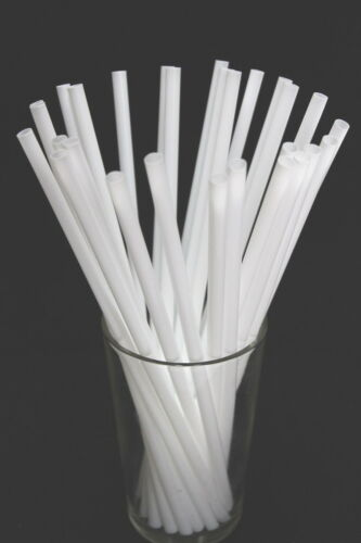 Party Weddings 20 CM Long 50 Regular Drinking Straws White Straw