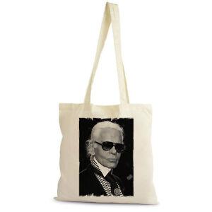 Karl-Lagerfield-Tote-Sac-shopping-Shopping-Bag-naturel-coton-beige-cadeau