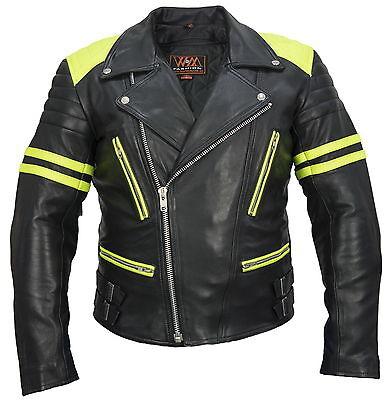 Herren Textil//leder BikerJacke Schwarz,Motorrad Trendiges Textiljacke lederjacke