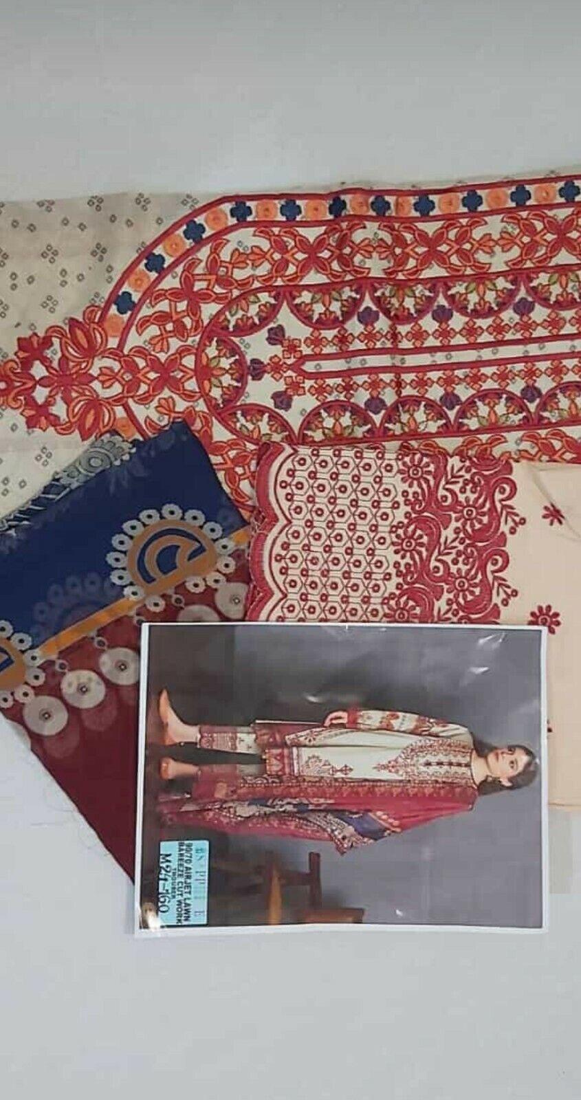 Unstitched salwar kameez linen