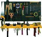 Garage Wall Tool Rack Storage Kit Tools Organiser DIY Shelves Including 50 Hooks