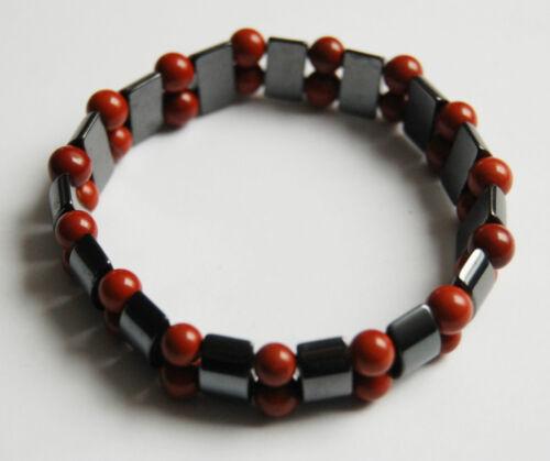 Edelstein-Magnetarmband Hämatit mit Jaspis rot