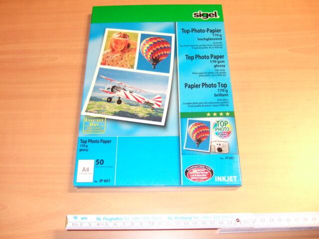 sigel InkJet-Top-Foto-Papier DIN A4 hochglänzend 170 g//qm