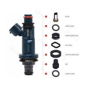 4 For Toyota AVALON Camry Highlander RAV4 SIENNA VENZA Fuel Injector Seal Kit