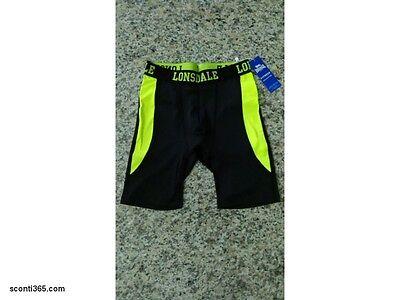 Lonsdale Ciclista Fitness,uomo/ragazzo - Art.loupe17264-bla/yel (black/yellow) Ineguale Nelle Prestazioni