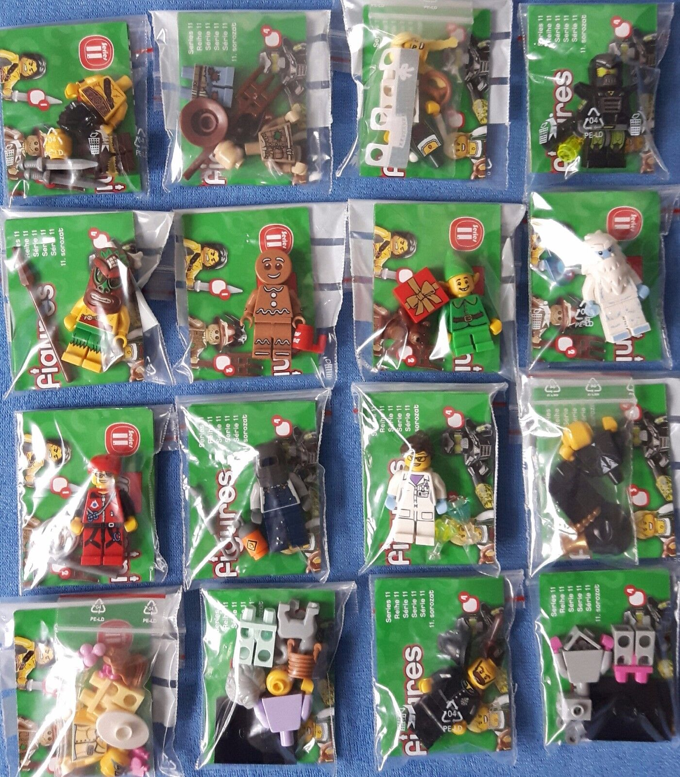 Lego 71002 series 11 mini figures complete  lot all 16 nouveau & unused  offres de vente