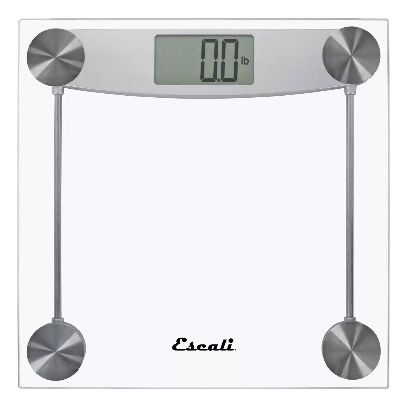 ESCALI Digital Bathroom Glass Chrome Scale E184 Body Extra Large 400lb Capacity