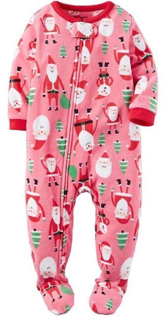 95910b58306b Carter s 6m Pink Baby Girl Fleece One Piece Footed Zip up Pajama ...
