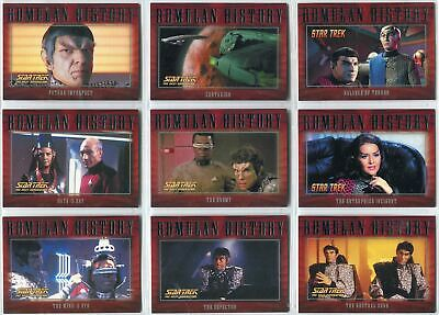 27 CARDS IN SET STAR TREK NEMESIS MOVIE ROMULAN HISTORY INSERT SET R1-R27