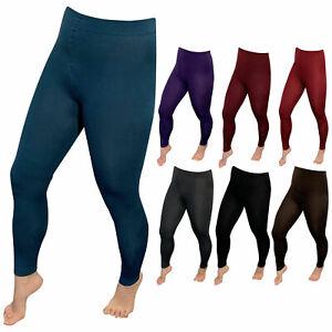 Damen-Thermo-Leggings-flauschig-warm-mit-Innenflanell-in-9-Farben-Lavazio