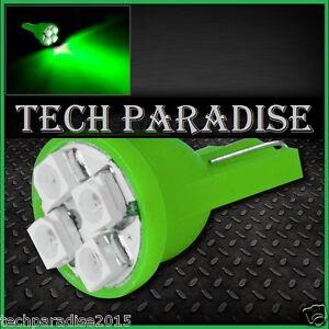 4x-Ampoule-T10-W5W-W3W-LED-4-SMD-3528-Vert-Green-veilleuse-lampe-light-12V