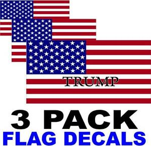 3-PACK-TRUMP-American-Flag-USA-Decal-PATRIOTIC-STICKERS