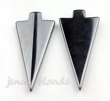 2Pcs Natural Arrow Gemstone Hematite Magnetite Charms Pendant Finding 39x18x4mm