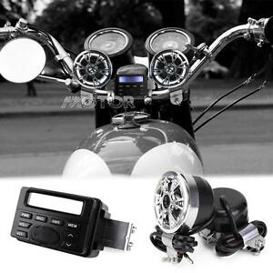 Audio Radio Speakers Stereo FM MP3 for Harley Davidson Softail Fat