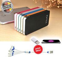TheQ Power Bank PB05b externe Akku 12000mAh USB Ladegerät Universal Schwarz Neu