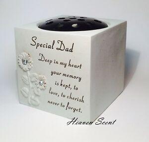 Grave Flower Pots Vase For Special Dad Memorial Rose Bowl Funeral ...