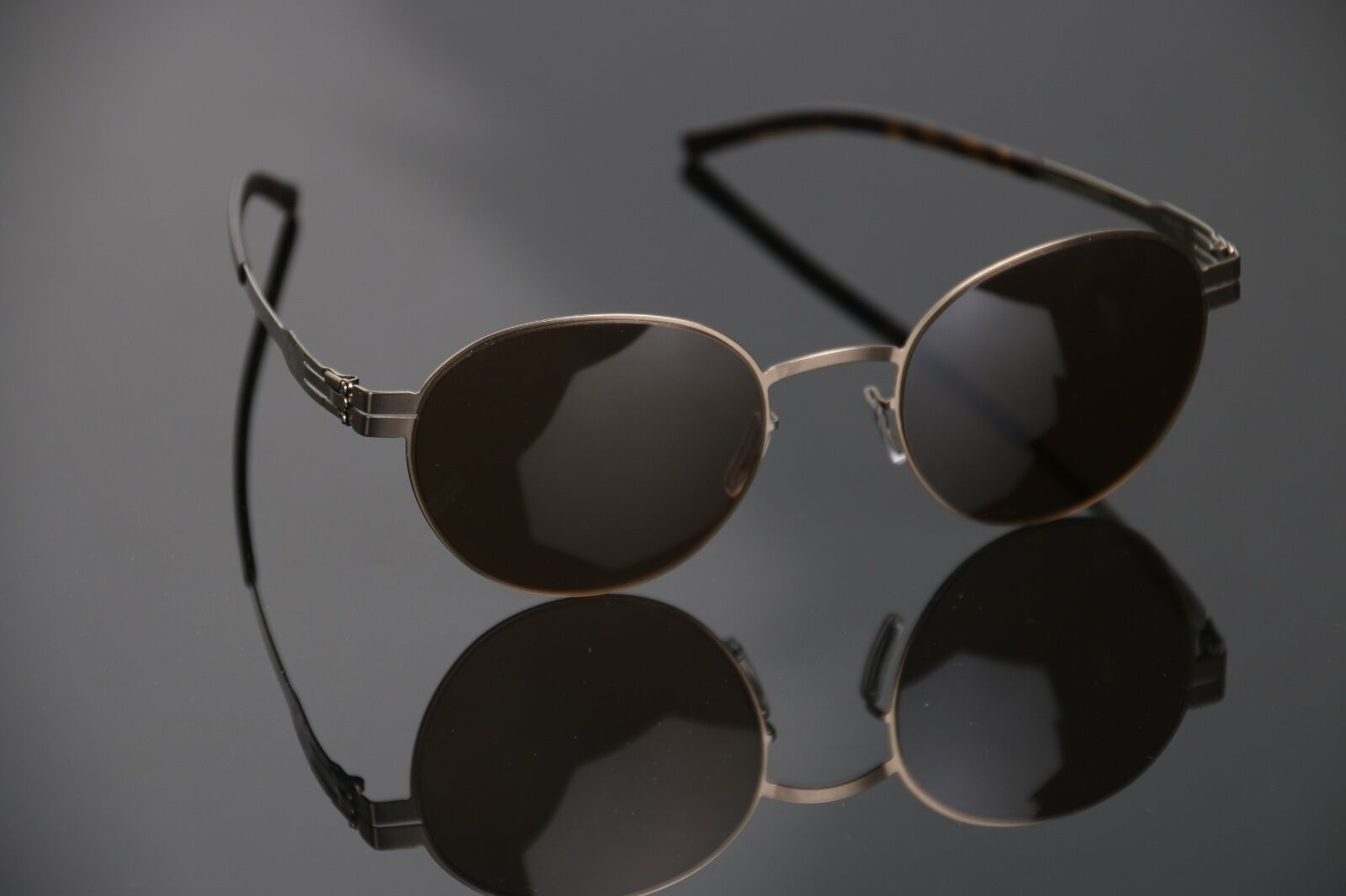 85e9662513 IC Berlin M1237 Claude Sunglasses Bronze Havana Matte With Brown ...