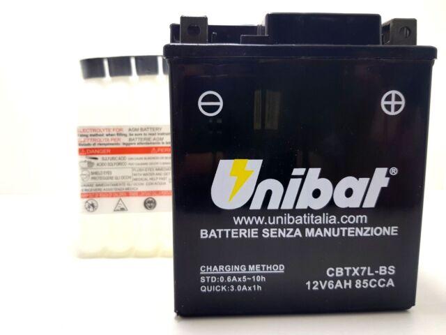 Batterie BOSCH M6 006 YTX7L-BS 12V 6Ah Yamaha Ybr 4T 125 2007 2008 2009
