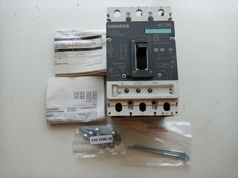 Siemens circuit breaker VL160N standard breaking capacity 3VL2716-1SS36-0AA0