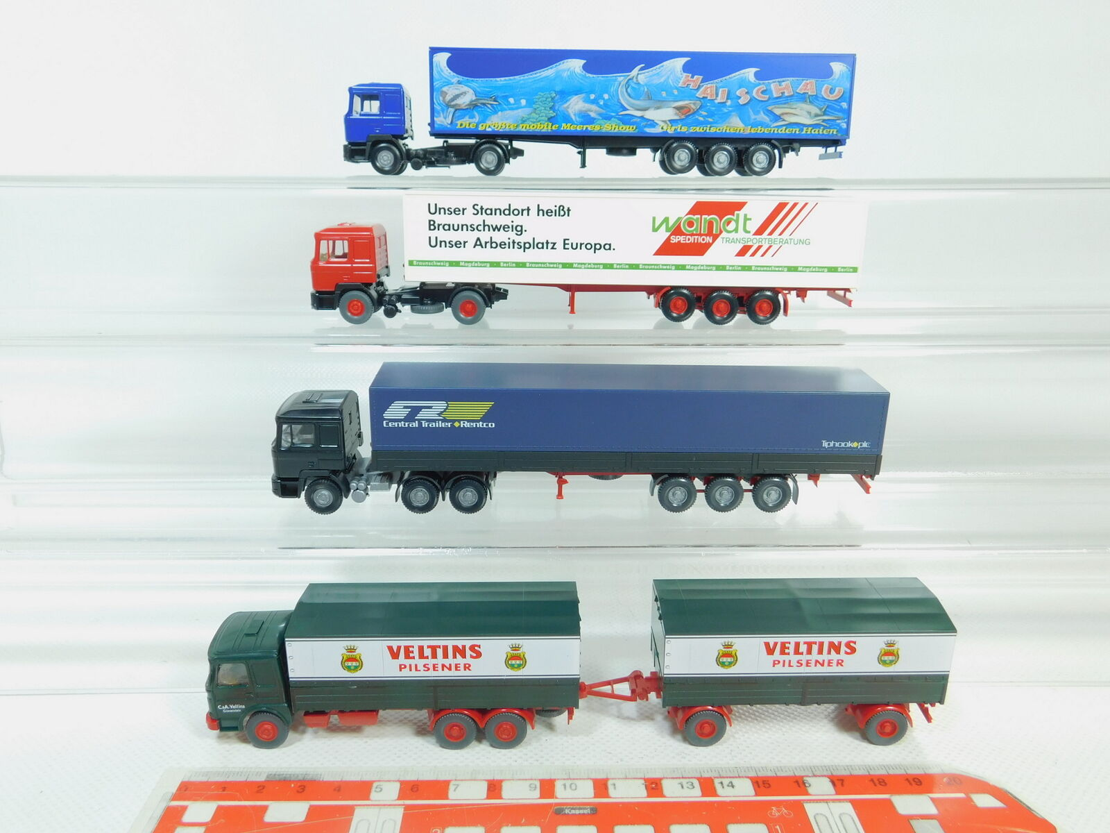 BO701-0,5x Wiking H0 1 87 Lastwagen MAN  Wandt + Haischau + Veltins etc, s.g.