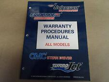1996 Johnson Evinrude Warranty Procedures Manual All Models OEM Boat