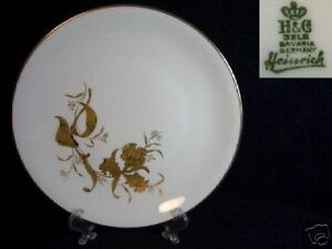 BEAUTIFUL-H-amp-G-SELB-BAVARIA-GOLD-FLORAL-8-5-INCH-PLATE