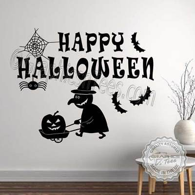 Halloween Wall Stickers Witch Spider Bats Halloween Party Wall