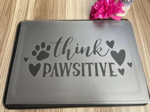 Pata de perro mascota de presupuesto de la plantilla plantilla Shabby Chic reutilizable plantillas Artesanía Decoración
