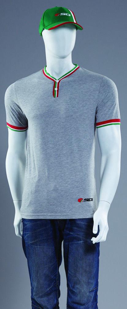 Sidi Regale Casual T-Shirt Motorino Bicicletta Team Wear - Grigio