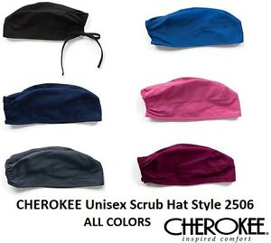 ad89922e8 Details about Cherokee Unisex Scrub Hat ALL COLORS Style 2506