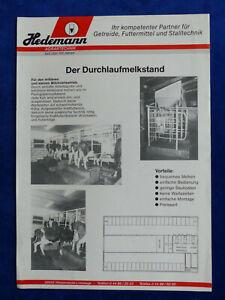 0371) Hedemann Durchlaufmelkstand-prospectus Brochure 90er-tand - Prospekt Brochure 90er Fr-fr Afficher Le Titre D'origine