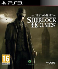 *The Testament of Sherlock Holmes PS3* Complete ~Fast & Free Postage~ ELE7