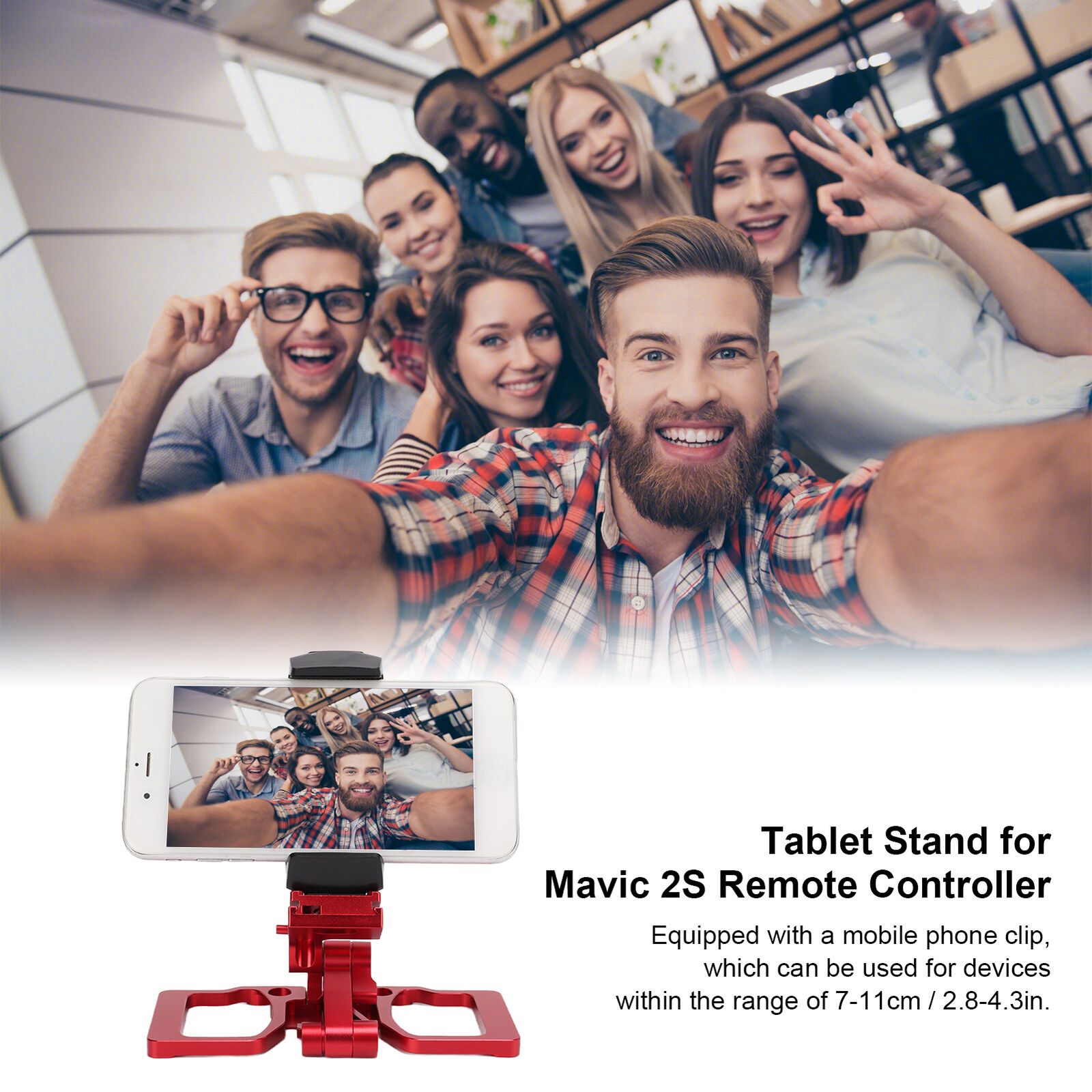 Drone Remote Controller Foldable Monitor Holder Phone Tablet Bracket for Mavic 2