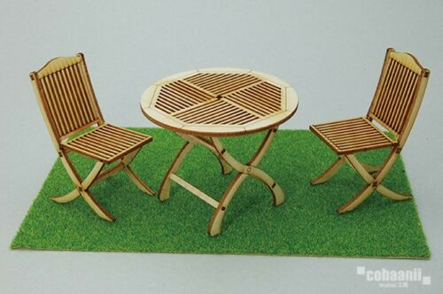 Garden Table and Chair For 1/12 Doll House Figure Cobaanii Model workshop