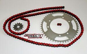 Kit-Chaine-Renforce-13x53-Rouge-Derbi-Senda-50-SM-X-treme-2000-a-2011