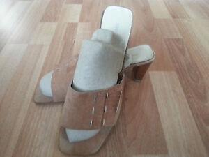 best sneakers 742bc 2f52f Details zu DANIEL HECHTER Gr. 40 Echt Leder Damen Sandaletten Sandalen  Pantoletten Schuhe