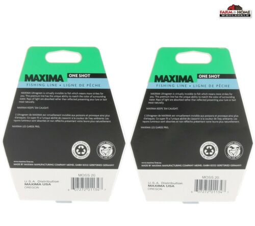 Maxima Ultragreen 20lb Fishing Line 250yd ~ New