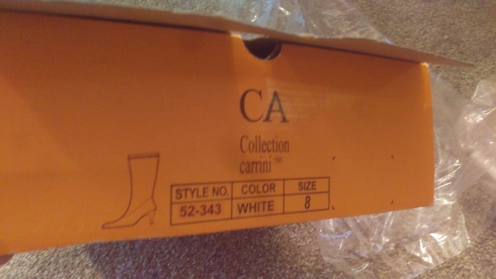 Carrini CA Thigh High Weiß Stripper Stiefel Wet Costume Heel w/ Naughty Maid Costume Wet sz 8 4462ff