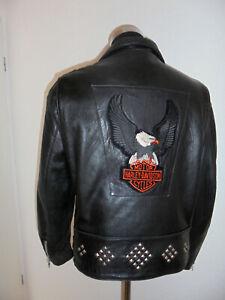 vintage-spain-MIRPEL-Motorradjacke-Lederjacke-oldschool-biker-jacke-motorcycle-M