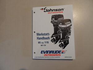 Werkstatthandbuch-Johnson-Evinrude-Aussenborder-1995-85-88-90-100-112-115-PS-90CV