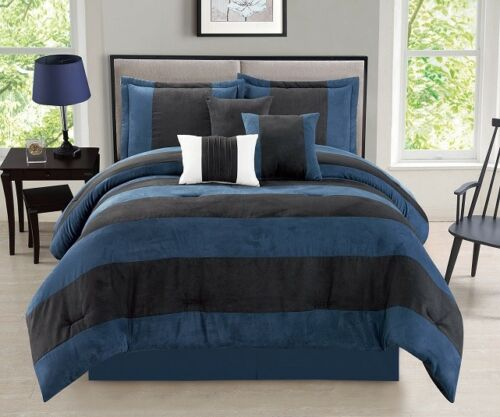 Luxurious 11-PC Micro Suede Winter Soft Comforter Set Bed In A Bag W// Sheet Set!