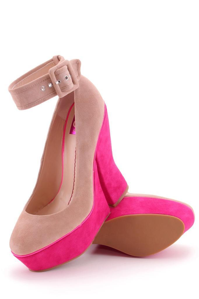 Dolce Vita Cosette Platform Nude Suede Pink Platform Ankle Strap high heel Beige