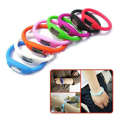 Unisex Candy Color Silicone Digital Jelly Anion Sports Bracelet Wrist Watch ×1