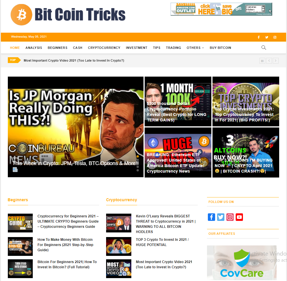 Turnkey crypto currency video news website / Automated Free hosting / Setup