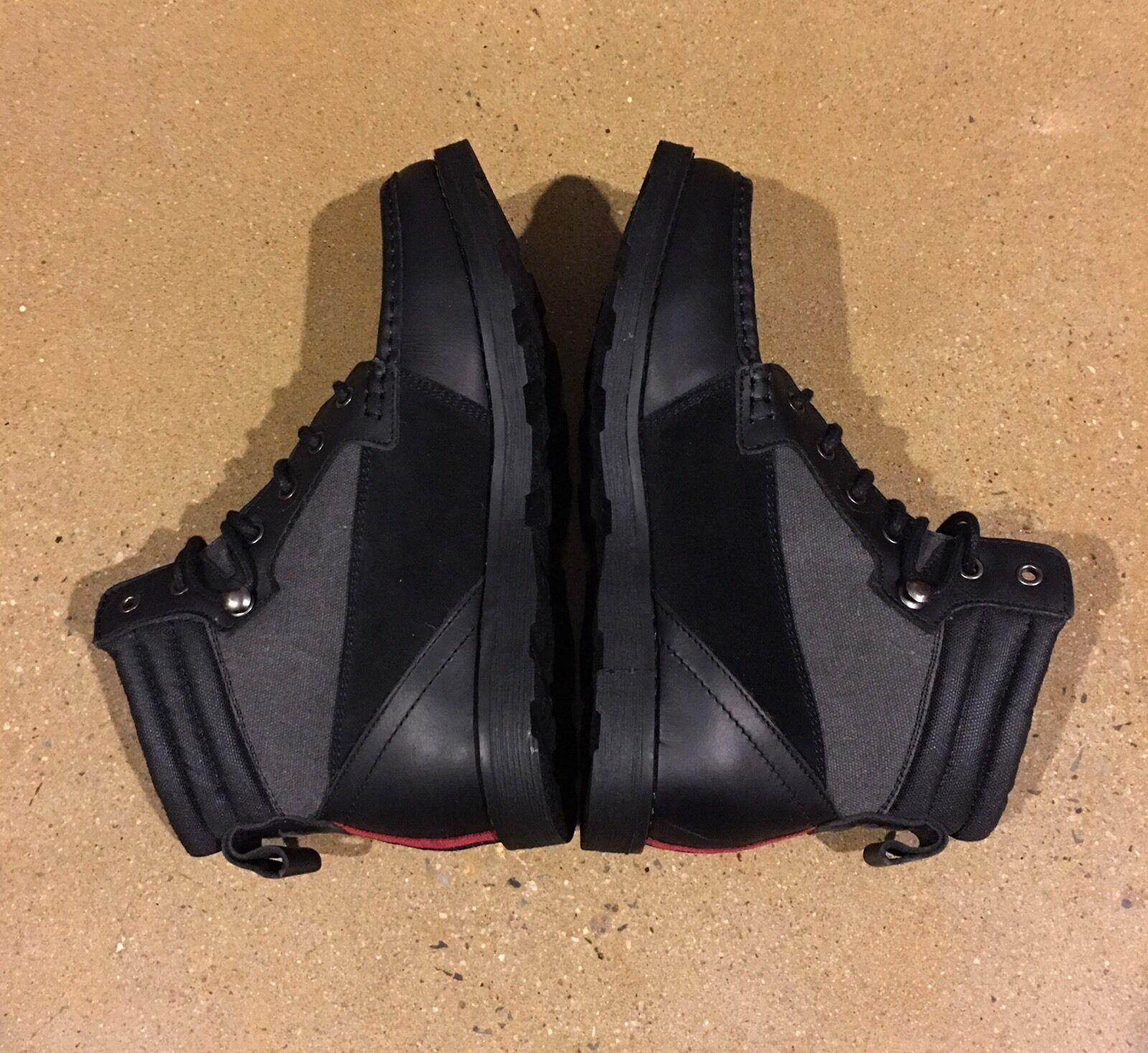 DVS Bishop Boots Men's Size 8.5 US Black Leather Cordura BMX DC Skate Chukkas